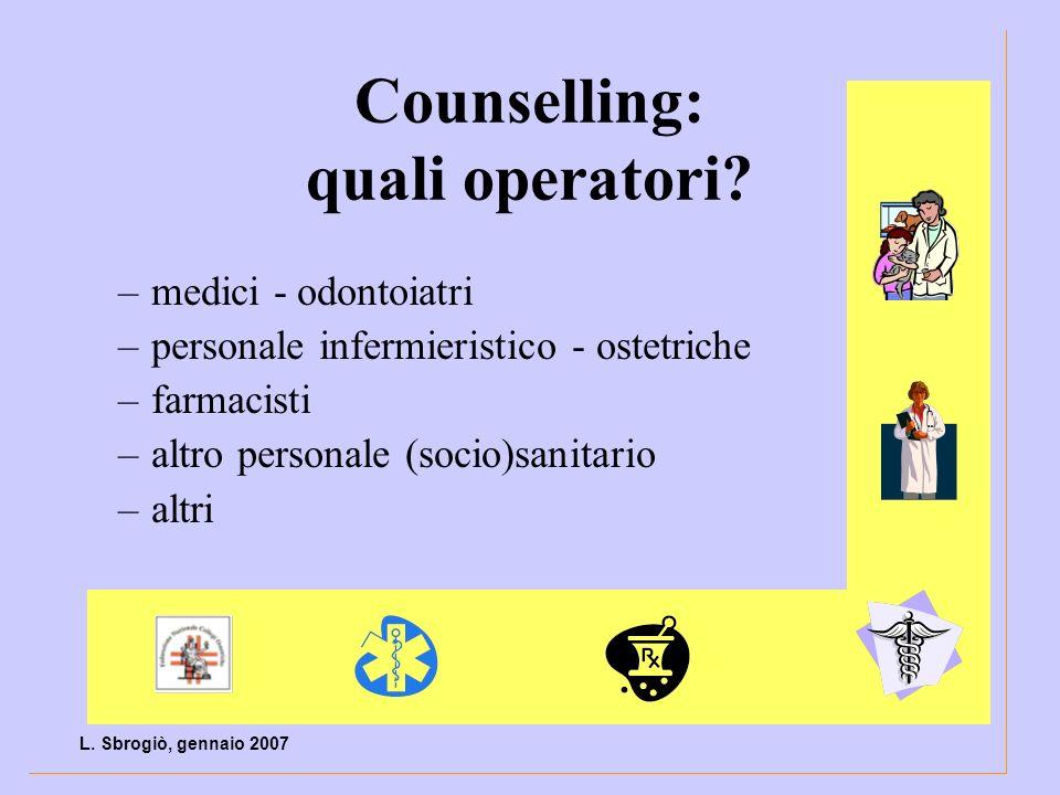 Counselling: quali operatori
