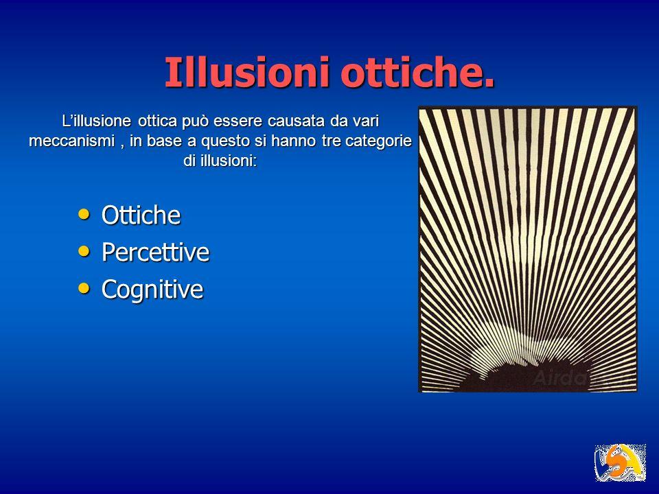Illusioni ottiche. Ottiche Percettive Cognitive