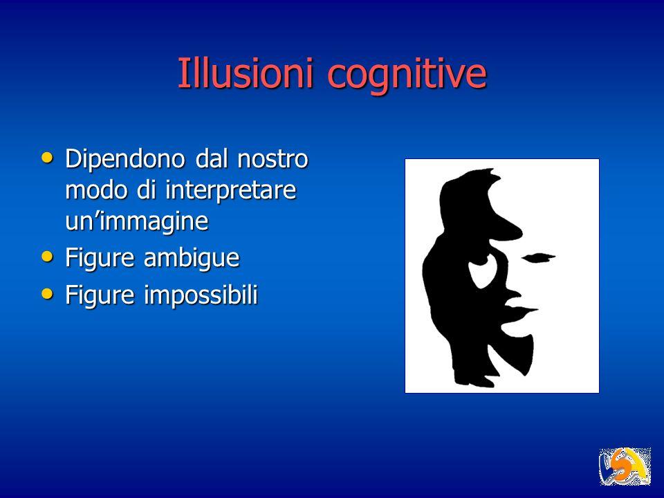 Illusioni cognitive Dipendono dal nostro modo di interpretare un'immagine.