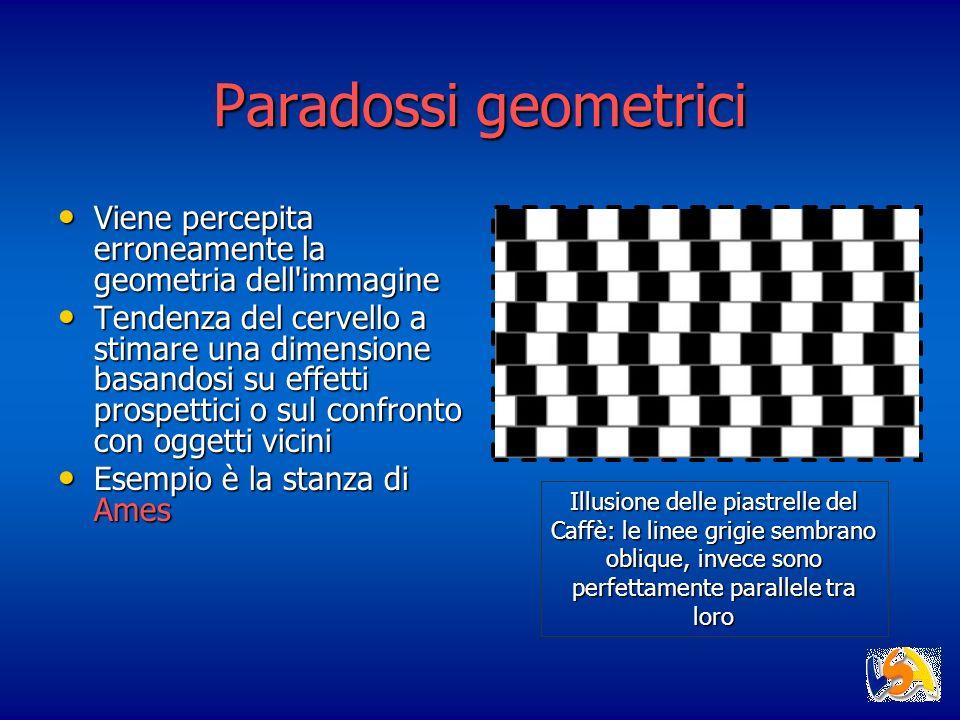 Paradossi geometrici Viene percepita erroneamente la geometria dell immagine.