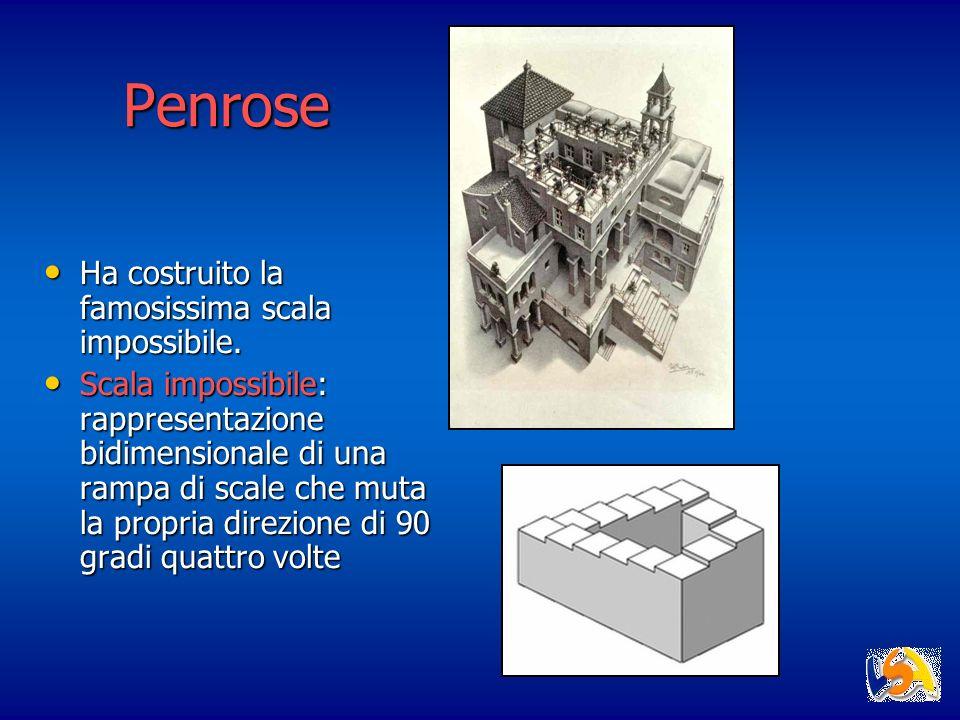 Penrose Ha costruito la famosissima scala impossibile.