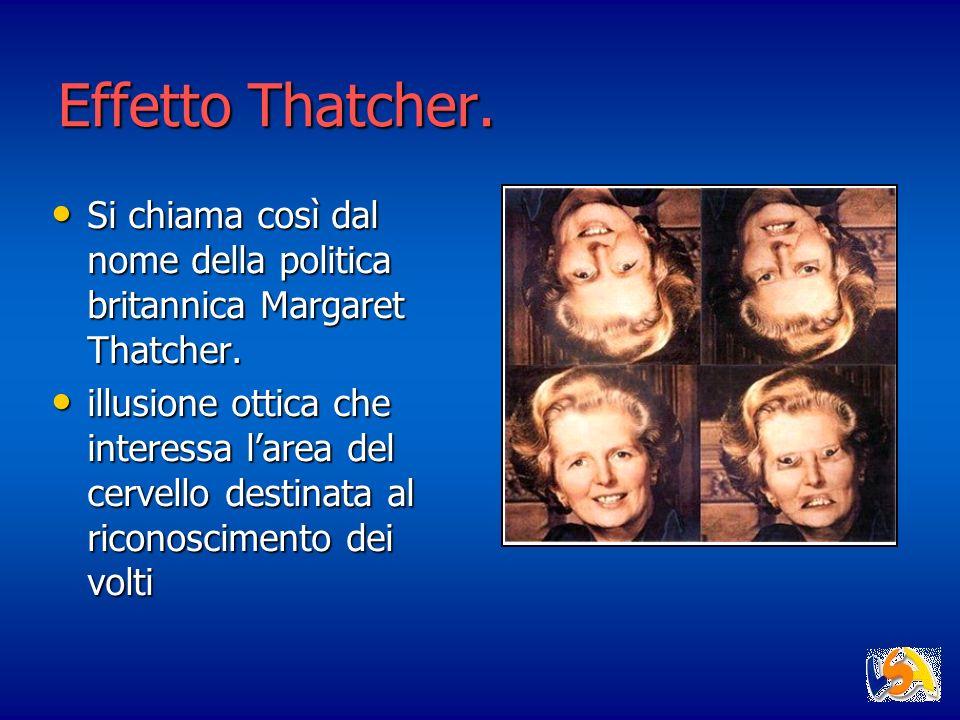 Effetto Thatcher. Si chiama così dal nome della politica britannica Margaret Thatcher.