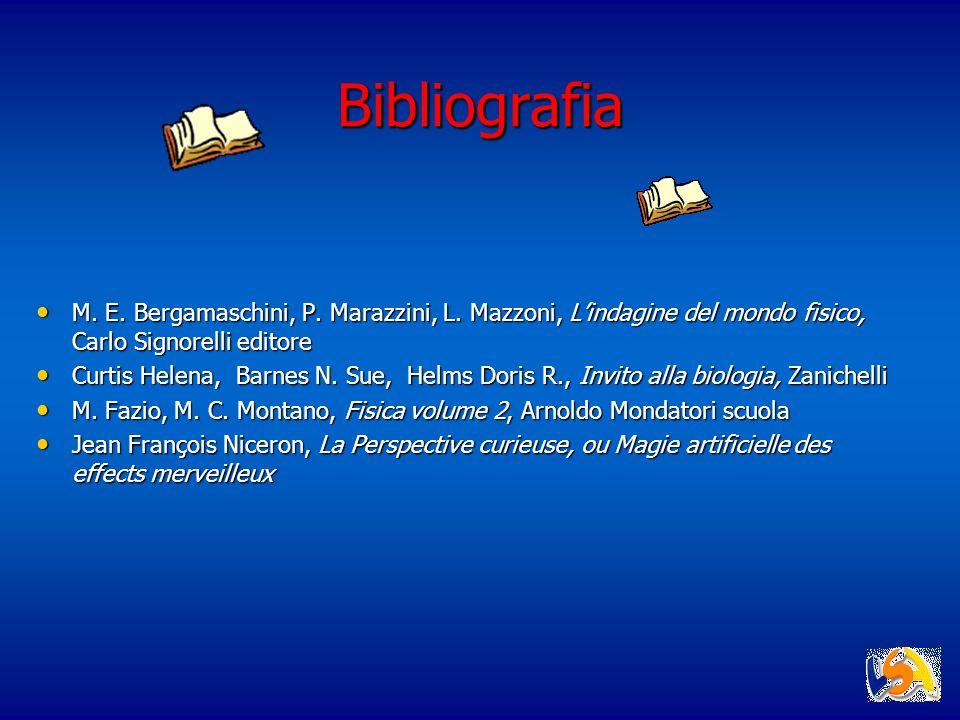 Bibliografia M. E. Bergamaschini, P. Marazzini, L. Mazzoni, L'indagine del mondo fisico, Carlo Signorelli editore.