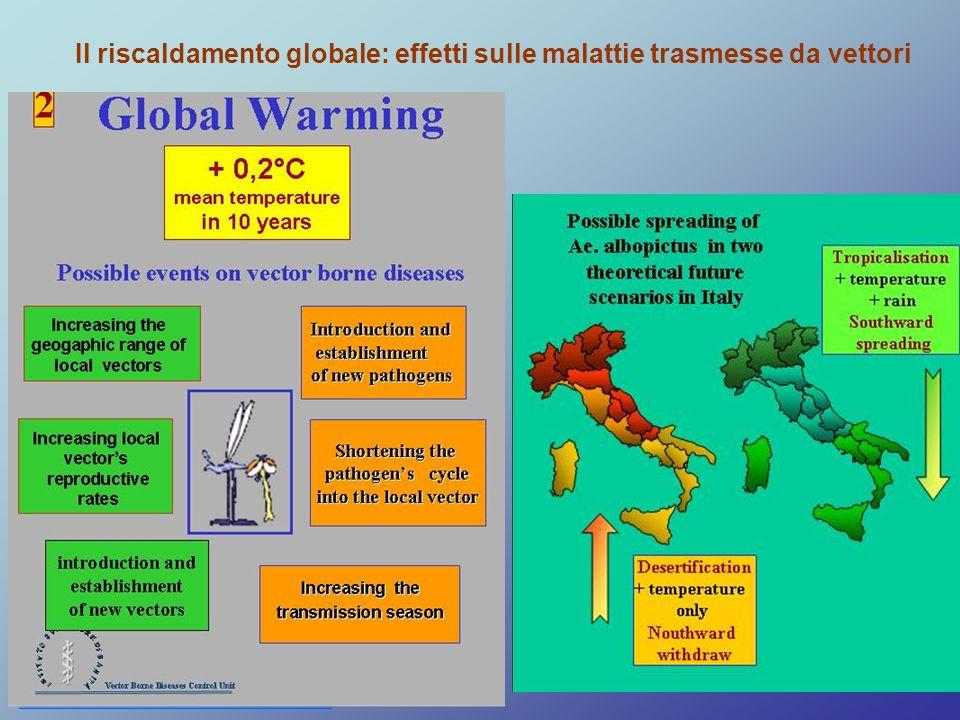 Il riscaldamento globale: effetti sulle malattie trasmesse da vettori