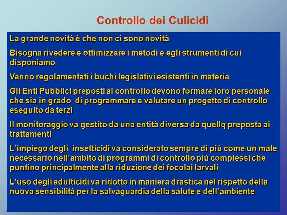 Controllo dei Culicidi