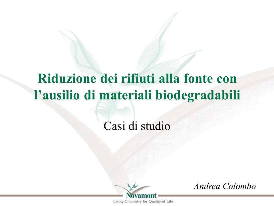 Riduzione dei rifiuti alla fonte con l'ausilio di materiali biodegradabili