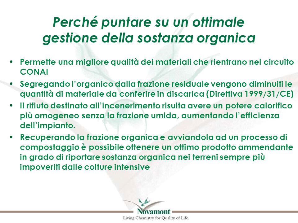 Perché puntare su un ottimale gestione della sostanza organica