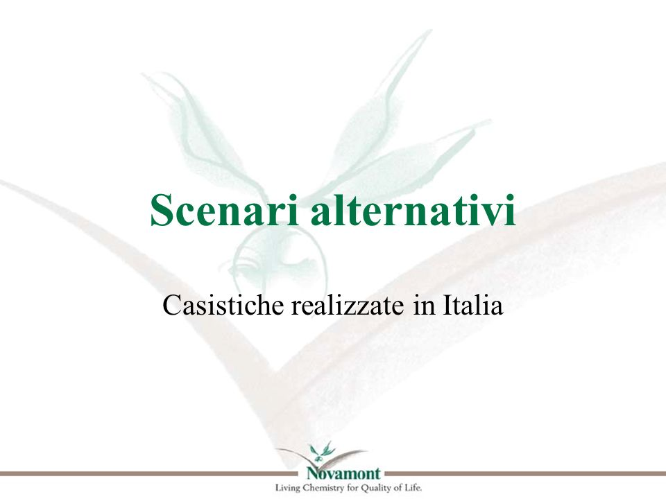 Casistiche realizzate in Italia