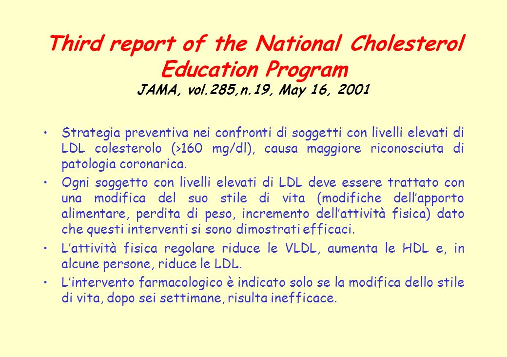 Third report of the National Cholesterol Education Program JAMA, vol