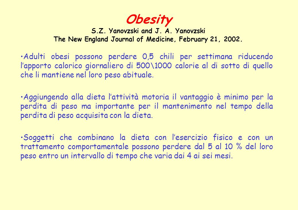 Obesity S. Z. Yanovzski and J. A
