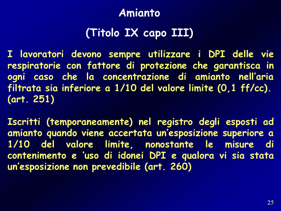 Amianto (Titolo IX capo III)