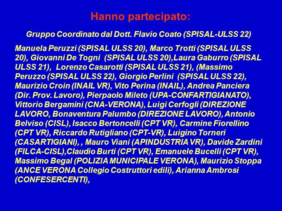 Gruppo Coordinato dal Dott. Flavio Coato (SPISAL-ULSS 22)