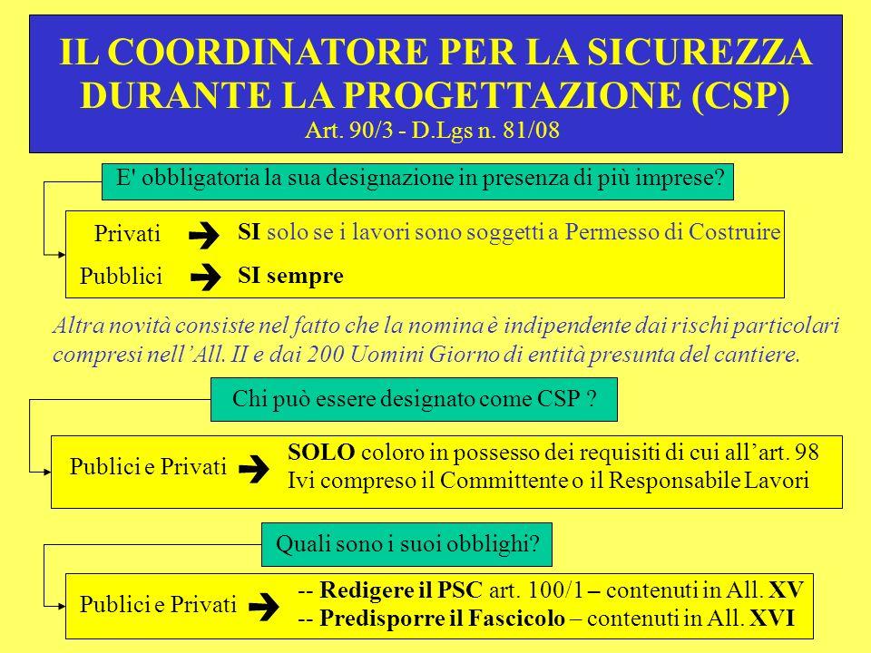 IL COORDINATORE PER LA SICUREZZA DURANTE LA PROGETTAZIONE (CSP)