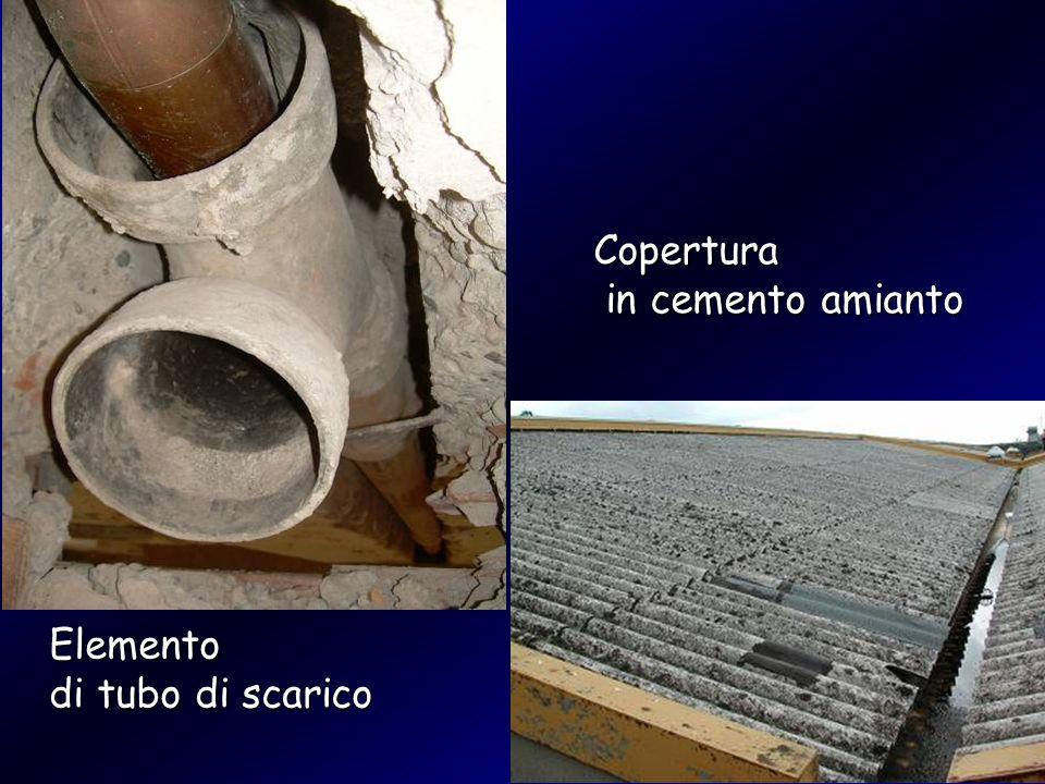 Copertura in cemento amianto Elemento di tubo di scarico