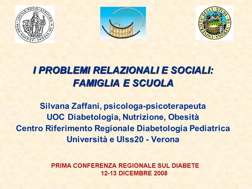 I PROBLEMI RELAZIONALI E SOCIALI: FAMIGLIA E SCUOLA