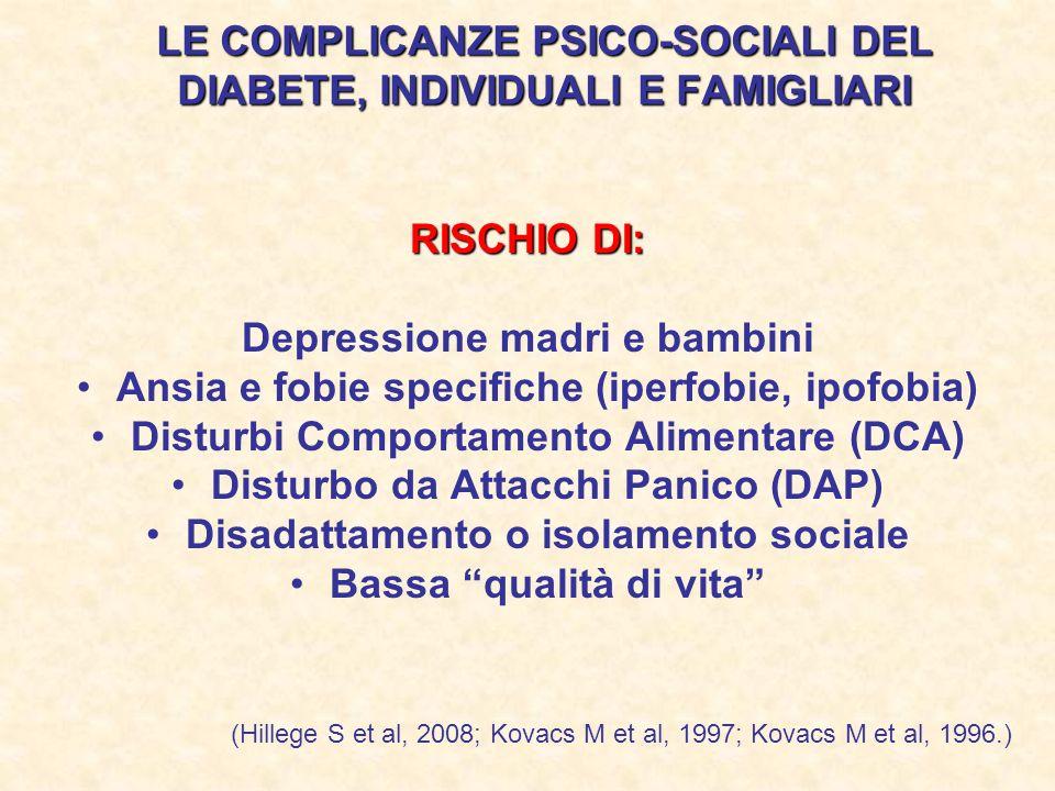 LE COMPLICANZE PSICO-SOCIALI DEL DIABETE, INDIVIDUALI E FAMIGLIARI