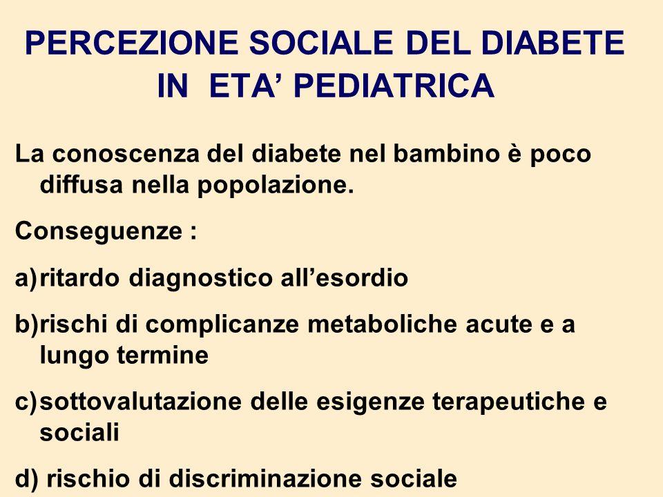 PERCEZIONE SOCIALE DEL DIABETE IN ETA' PEDIATRICA