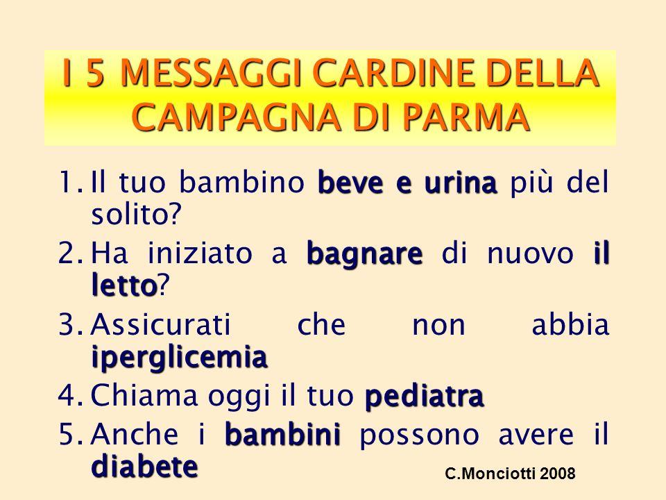 I 5 MESSAGGI CARDINE DELLA CAMPAGNA DI PARMA