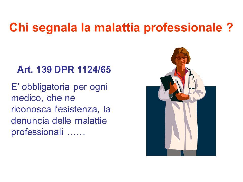 Chi segnala la malattia professionale