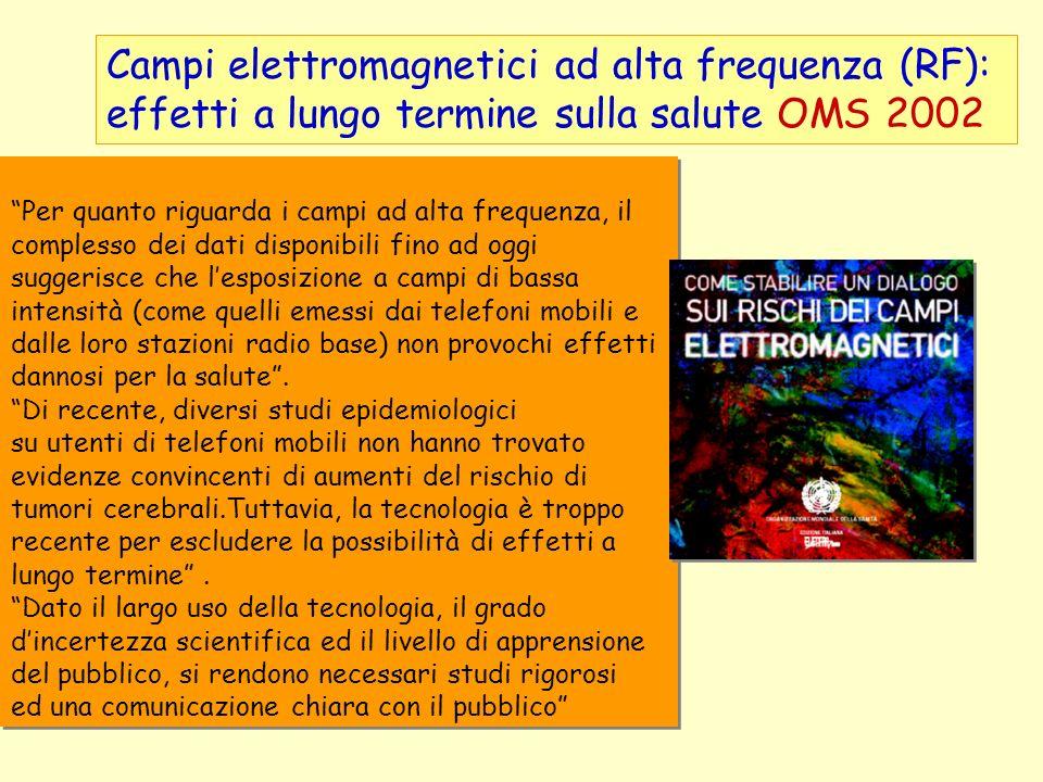 Campi elettromagnetici ad alta frequenza (RF): effetti a lungo termine sulla salute OMS 2002