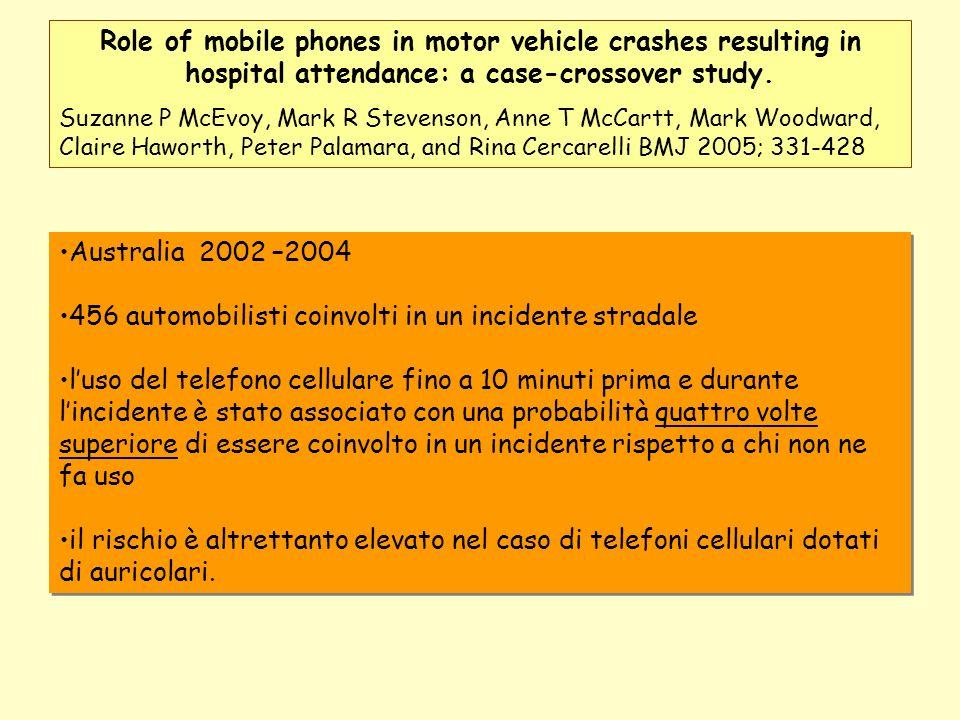 456 automobilisti coinvolti in un incidente stradale