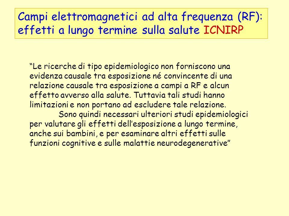Campi elettromagnetici ad alta frequenza (RF): effetti a lungo termine sulla salute ICNIRP