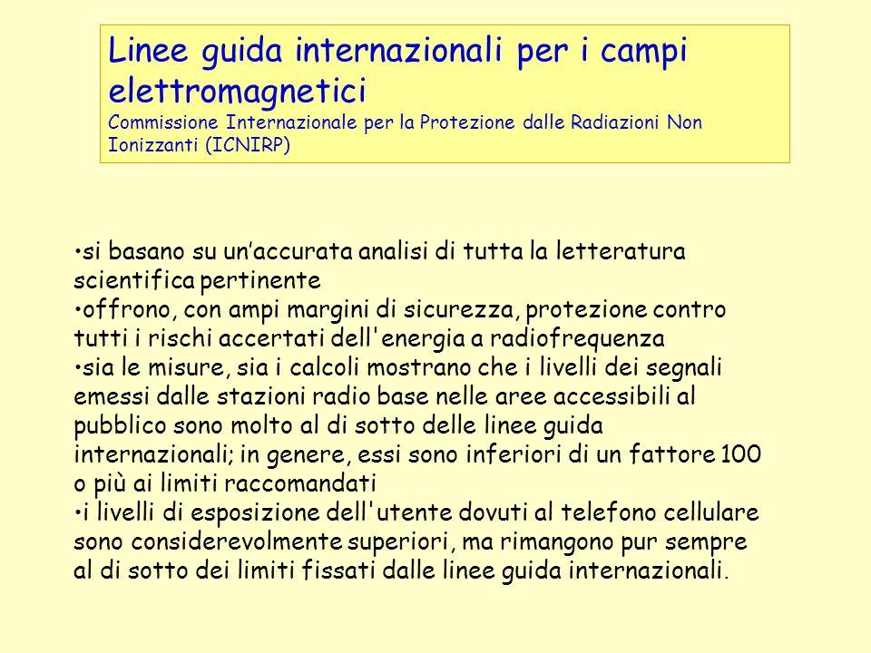 Linee guida internazionali per i campi elettromagnetici