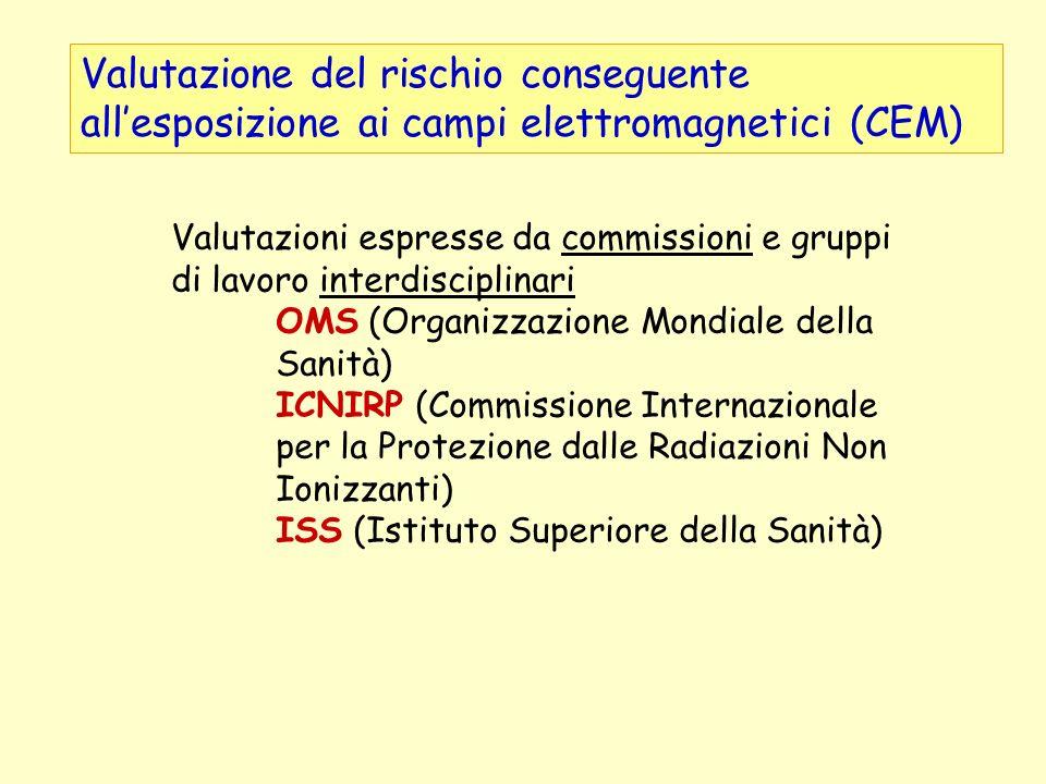 Valutazione del rischio conseguente all'esposizione ai campi elettromagnetici (CEM)