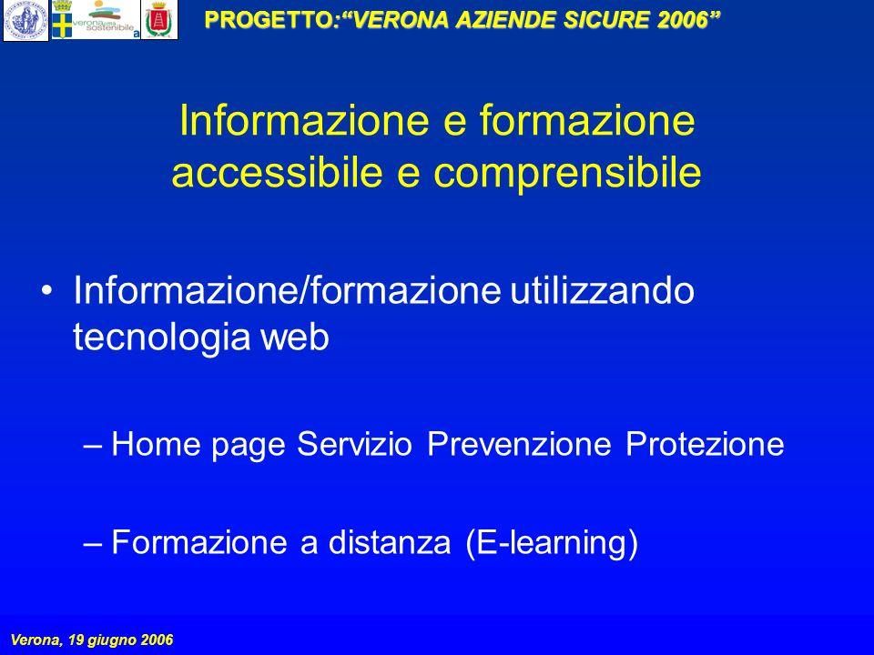 Informazione e formazione accessibile e comprensibile