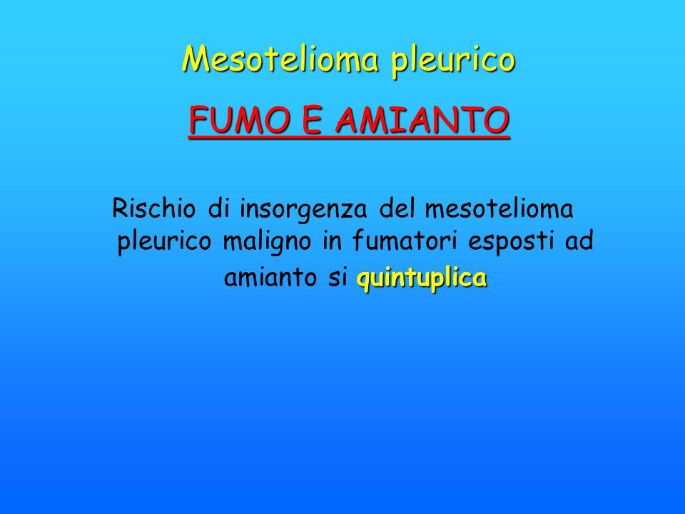 Mesotelioma pleurico FUMO E AMIANTO