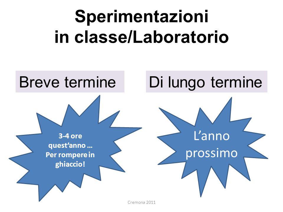 Sperimentazioni in classe/Laboratorio