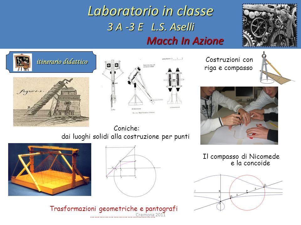Laboratorio in classe 3 A -3 E L.S. Aselli Macch In Azione