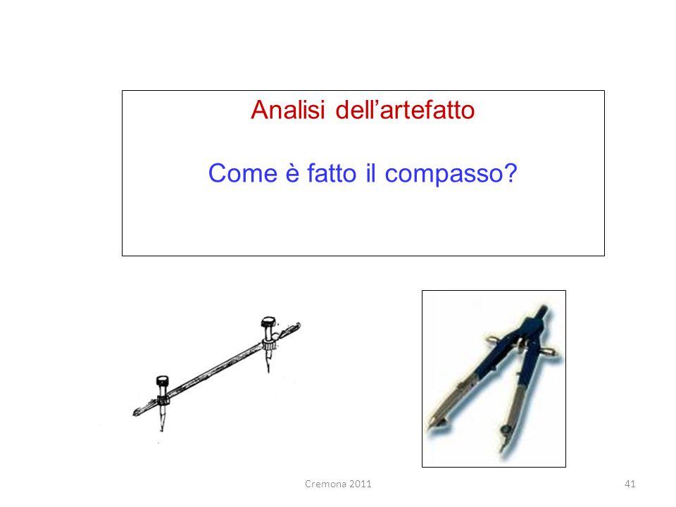 Analisi dell'artefatto Come è fatto il compasso