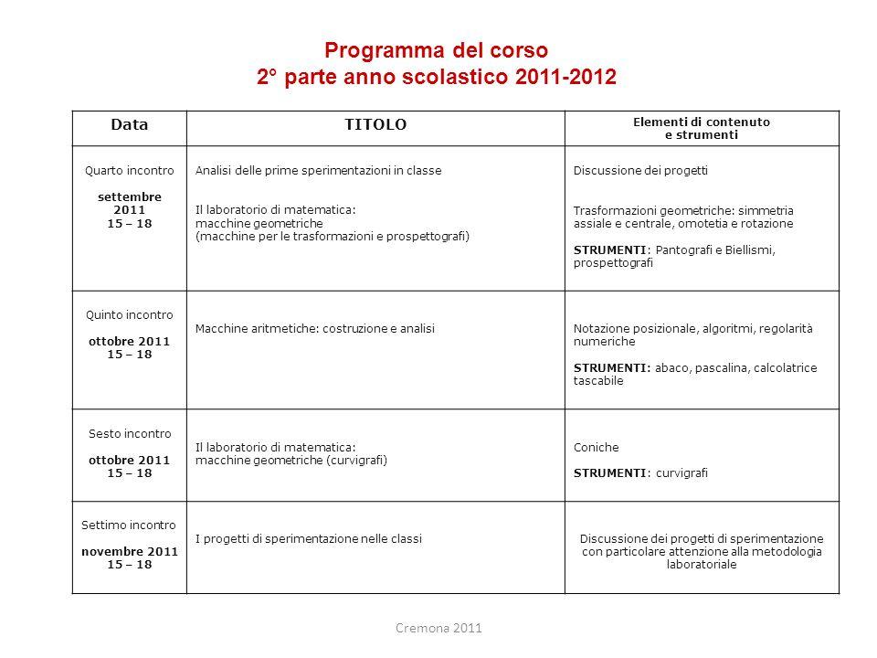 2° parte anno scolastico 2011-2012