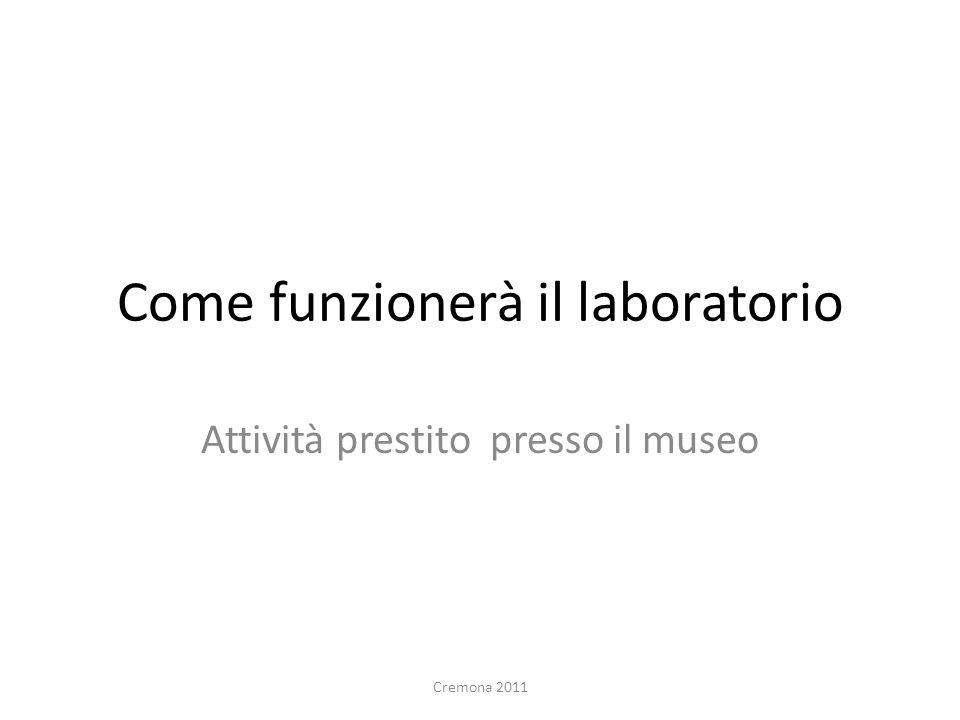 Come funzionerà il laboratorio