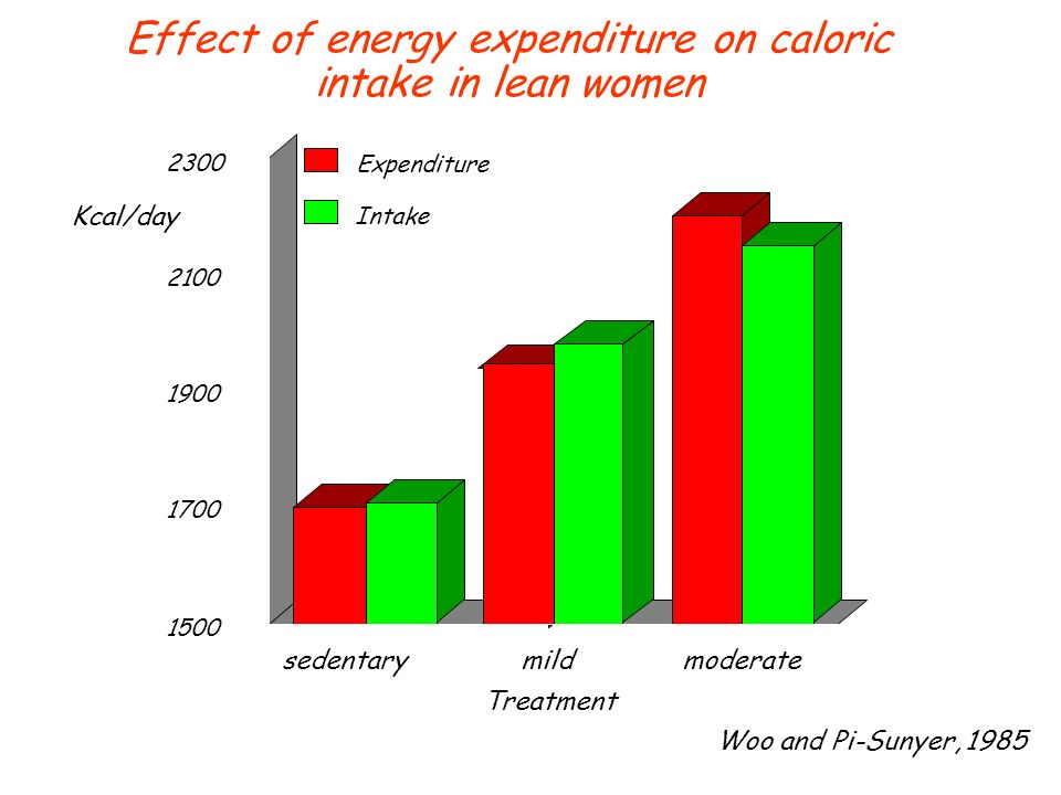 Effect of energy expenditure on caloric intake in lean women