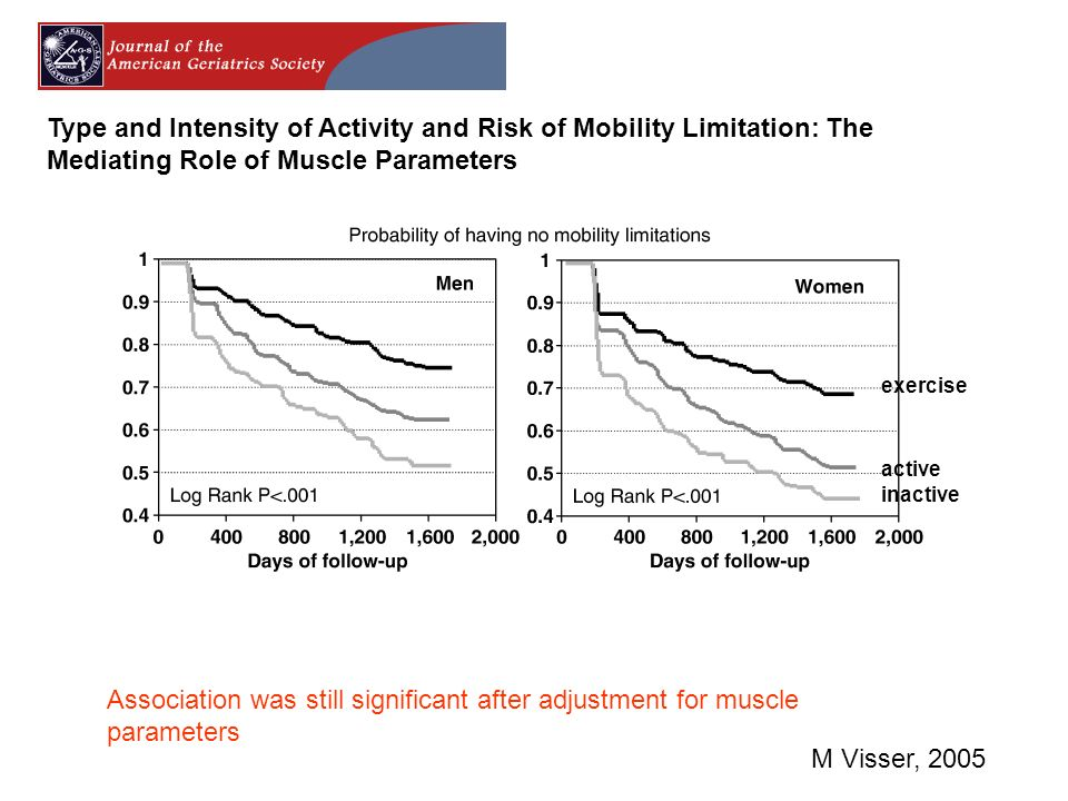 Type and Intensity of Activity and Risk of Mobility Limitation: The Mediating Role of Muscle Parameters