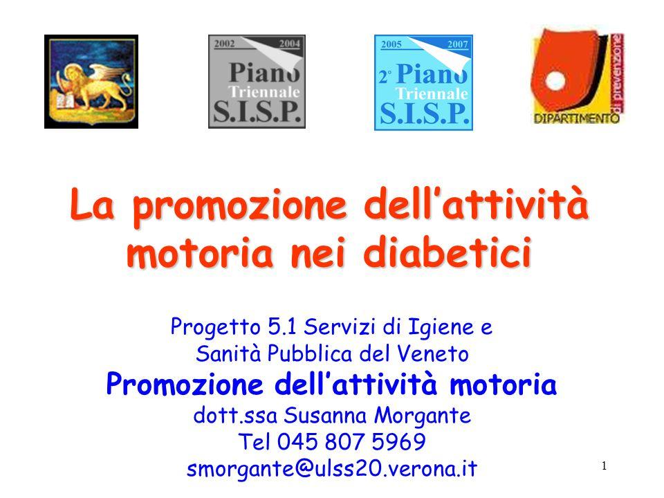 La promozione dell'attività motoria nei diabetici