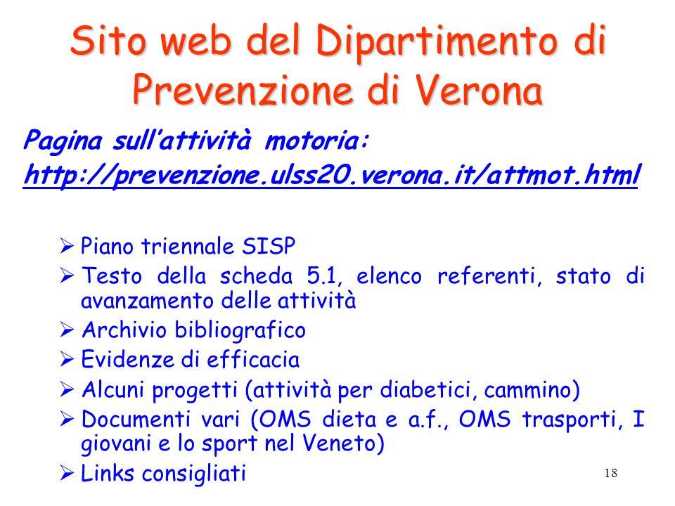 Sito web del Dipartimento di Prevenzione di Verona