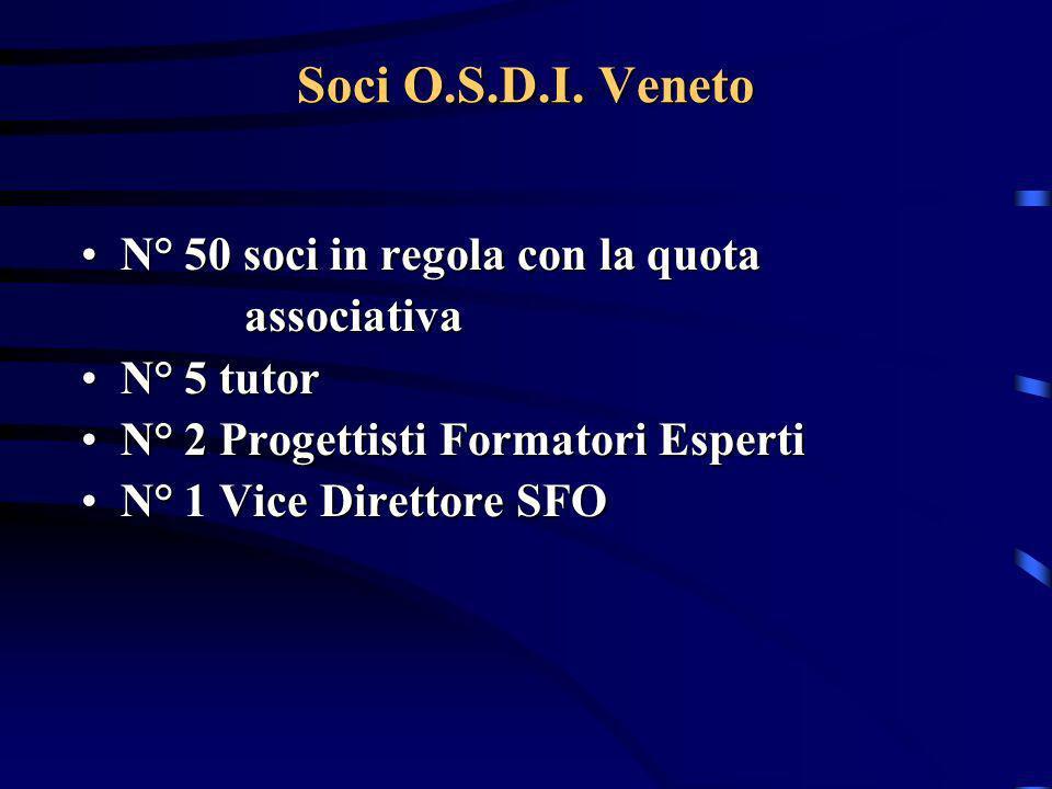 Soci O.S.D.I. Veneto N° 50 soci in regola con la quota associativa