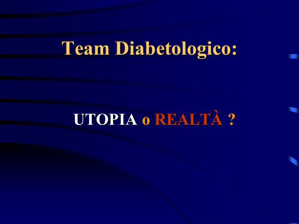 Team Diabetologico: UTOPIA o REALTÀ