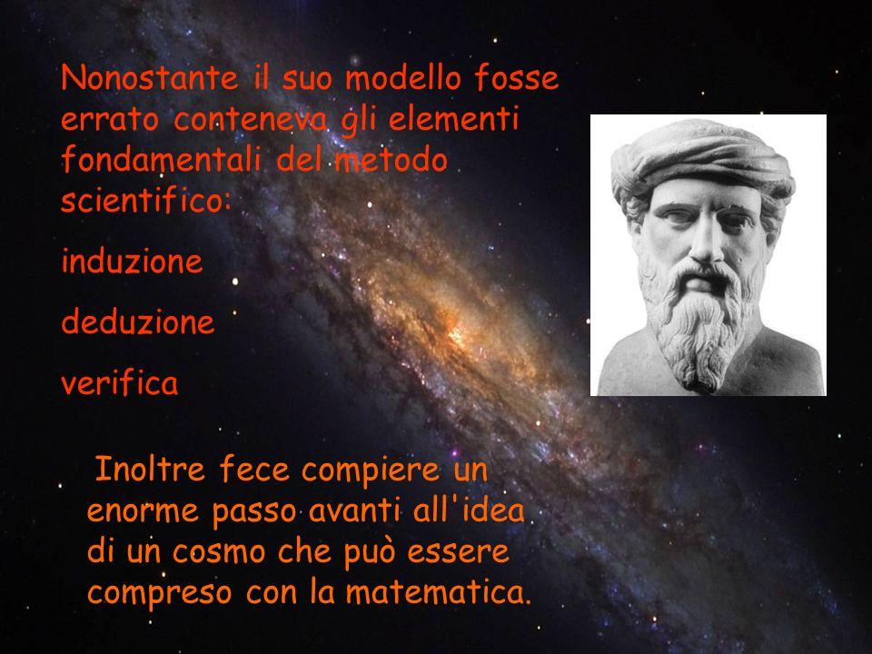 Nonostante il suo modello fosse errato conteneva gli elementi fondamentali del metodo scientifico: