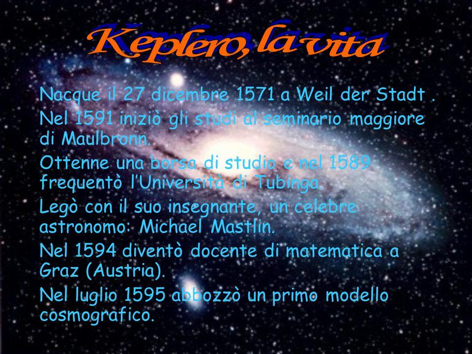 Keplero, la vita Nacque il 27 dicembre 1571 a Weil der Stadt .