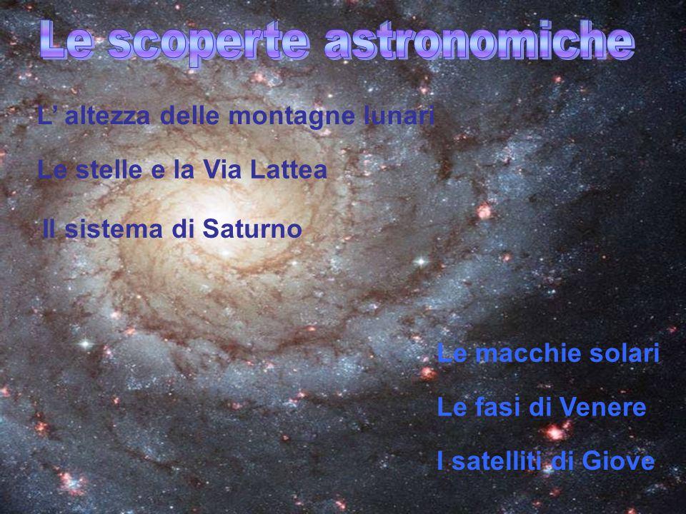 Le scoperte astronomiche