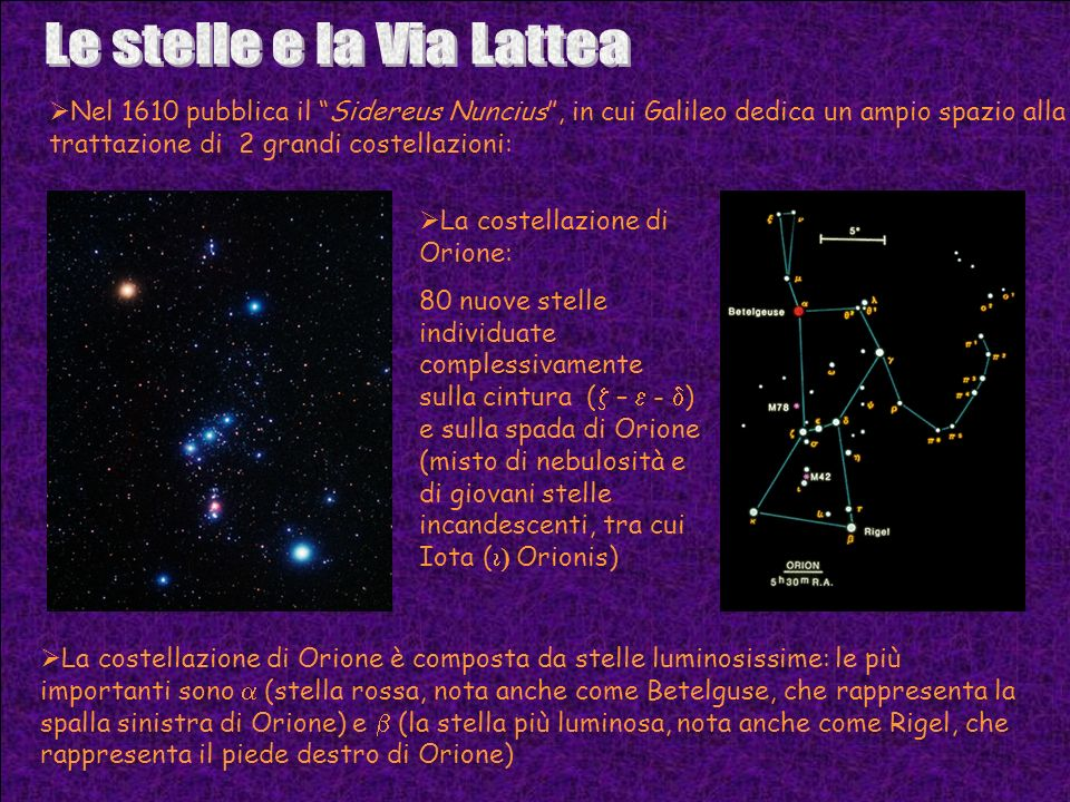 Le stelle e la Via Lattea