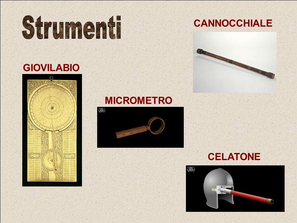 Strumenti CANNOCCHIALE GIOVILABIO MICROMETRO CELATONE