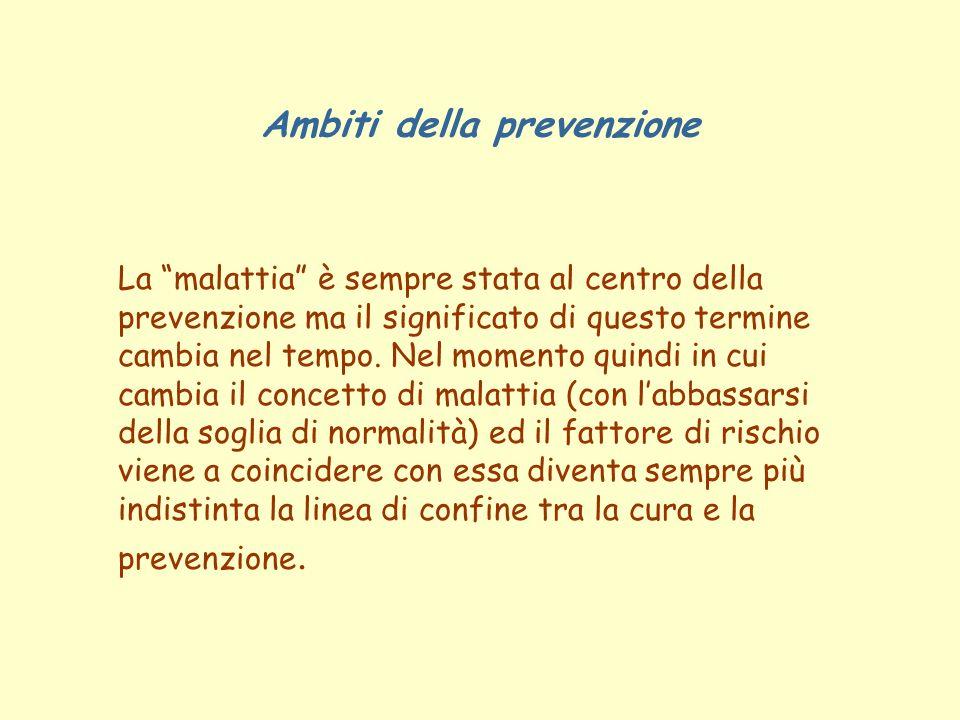 Ambiti della prevenzione