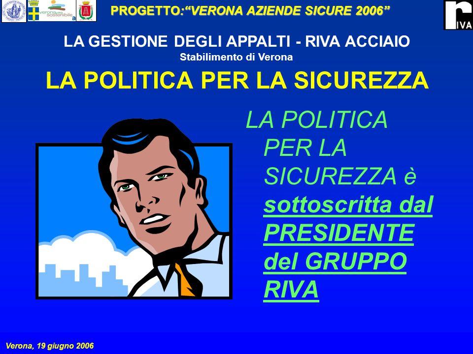LA POLITICA PER LA SICUREZZA