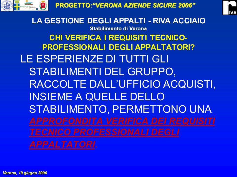 CHI VERIFICA I REQUISITI TECNICO-PROFESSIONALI DEGLI APPALTATORI