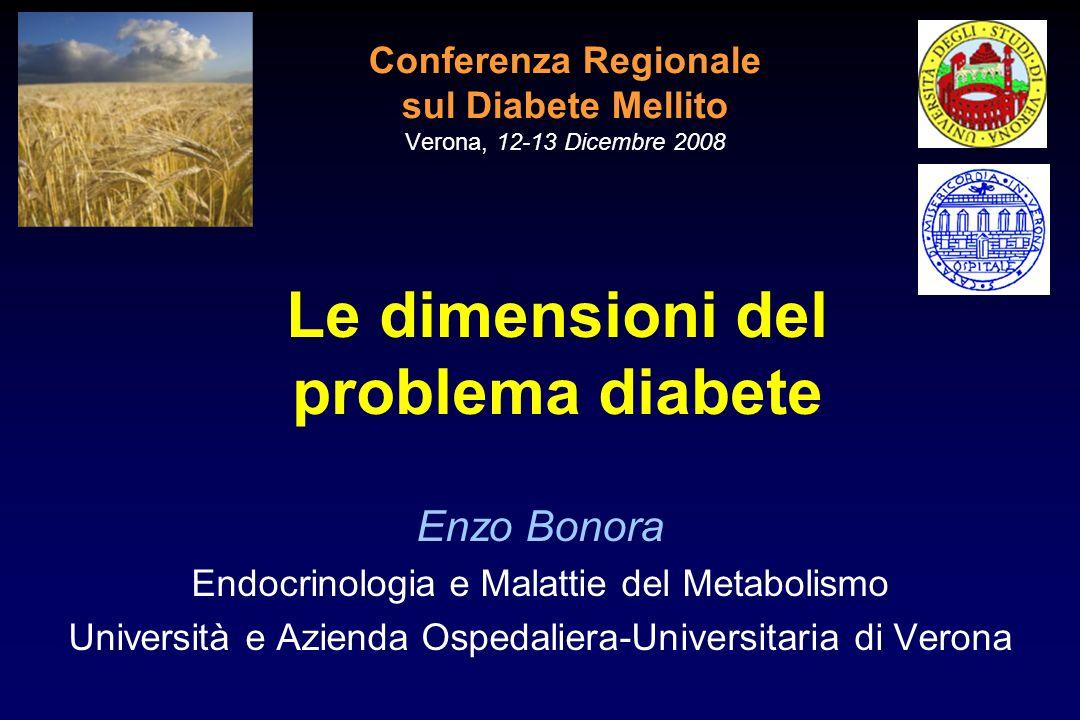 Conferenza Regionale sul Diabete Mellito Verona, 12-13 Dicembre 2008